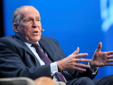 Former CIA Director John Brennan speaks during a conference in Las Vegas, Nevada, US. Reuters