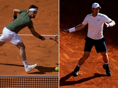 Fabio Fognini will face Andy Murray in the second round of Rome Masters. AP