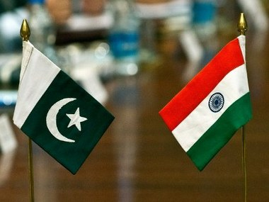 Representational image of Indian and Pakistani flags. AFP