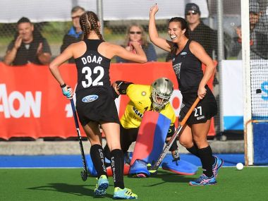 Indian women's hockey team fell to a 4-1 defeat against New Zealand. Twitter/ @BlackSticks