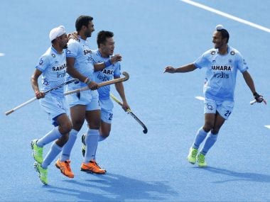 File image of the Indian Hockey team in action. AP
