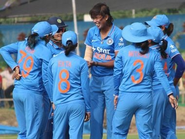 Indian women's cricket team recorded an easy 8-wicket win over South Africa in the final. Twitter/@BCCIWomen