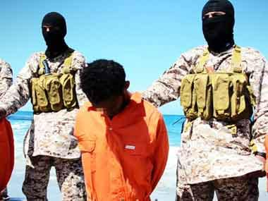 Video grab of Islamic State fighters execute a prisoner (representative image). AFP