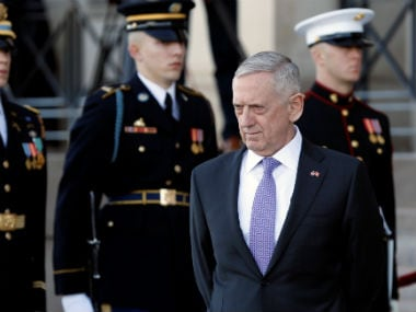 Secretary of Defence James Mattis. Reuters