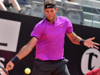 Juan Martin Del Potro of Argentina in action at the Rome Masters. AFP