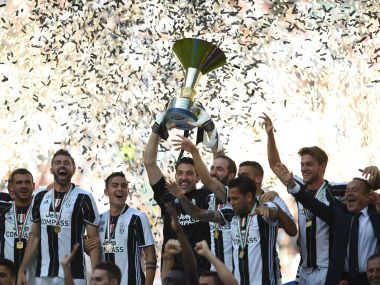 Juventus lifted a record sixth straight Serie A title. AFP