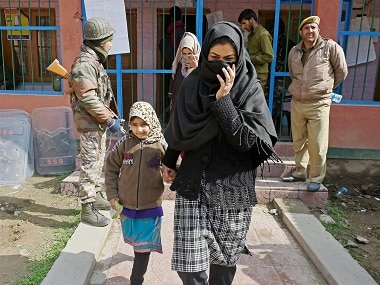 A file image of Srinagar bypoll which took place on 9 April 2017. PTI
