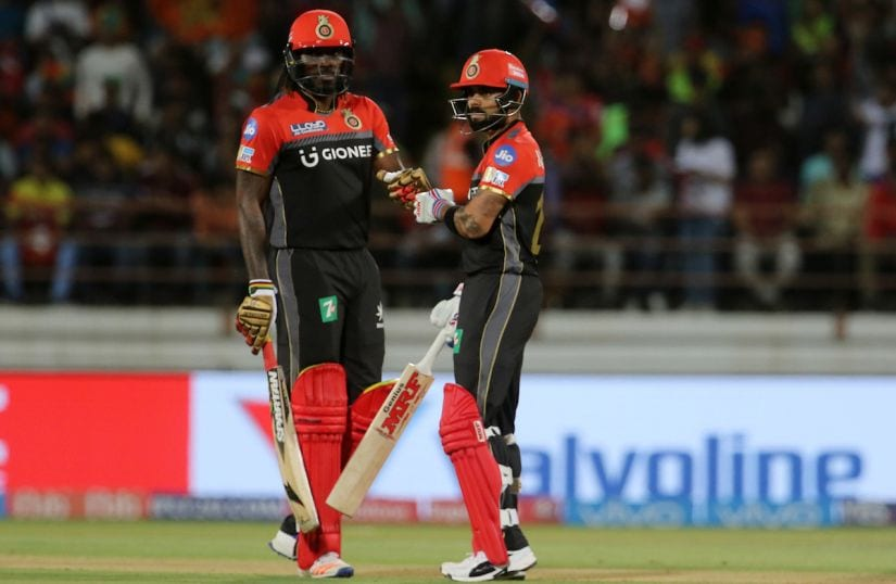 Royal Challengers Bangalore captain Virat Kohli and Chris Gayle both couldn't get firing in the 10th season of the IPL. Sportzpics