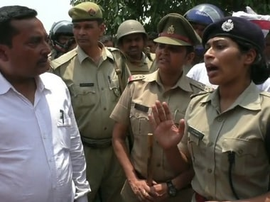 Radha Mohan alleged that the IPS officer forcibly removed protesters, including an 80-year-old. News18