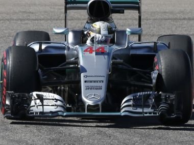 File image of Mercedes FI team member Lewis Hamilton in a race. Reuters