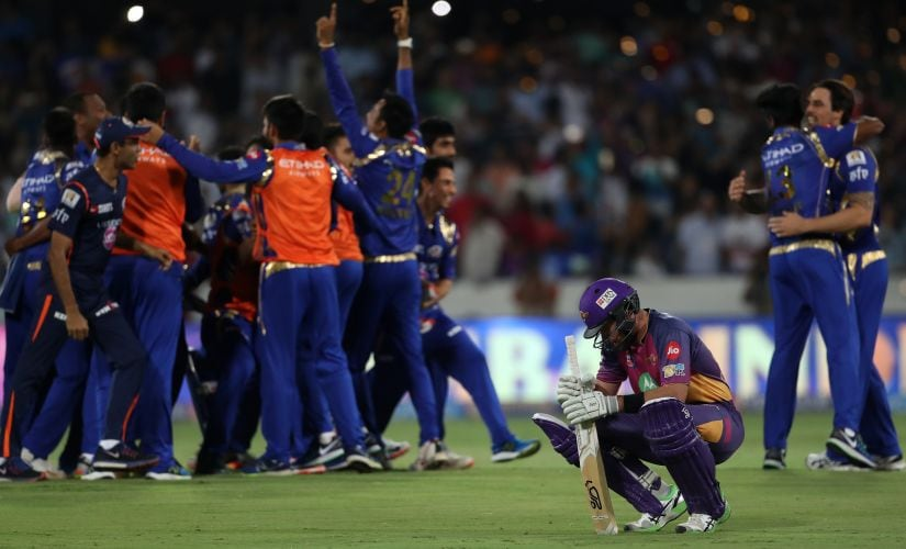 Dan Christian reacts to Pune's loss in the IPL final. Sportzpics/IPL