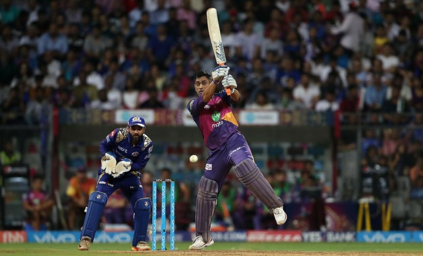 MS Dhoni of Rising Pune Supergiant during The Qualifier 1 match against Mumbai Indians. Sportzpics