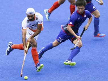Mandeep Singh scored a hat-trick against Japan. PTI