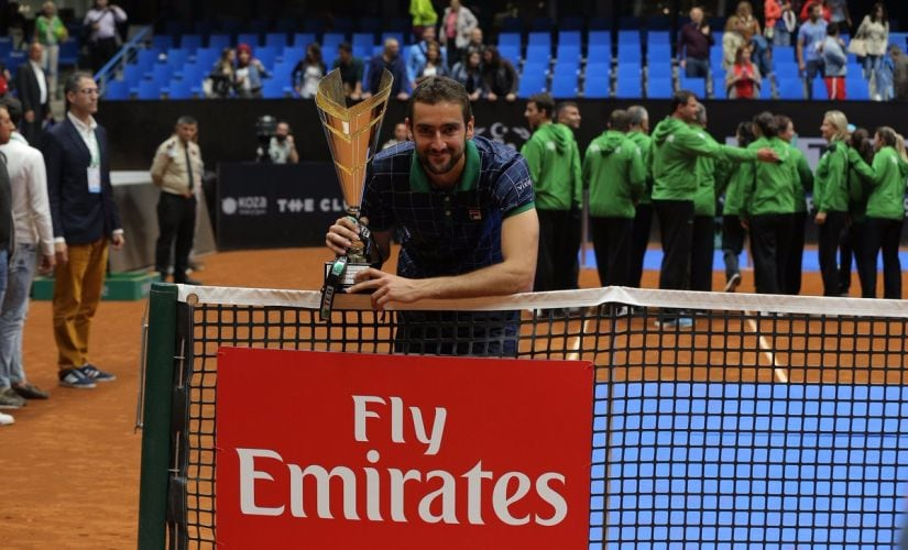 Marin Cilic defeated Milos Raonic in a battle of big hitters to secure his 17th career title. Image courtesy: Twitter/@cilic_marin