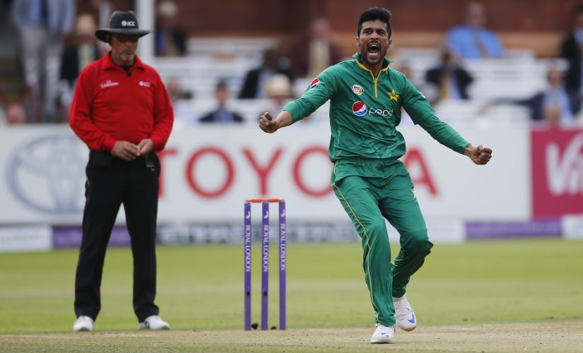Mohammad Amir celebrates taking a wicket during Pakistan's tour of England last year. Reuters