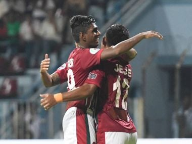 Mohun Bagan dealt a big blow to Bengaluru FC's hopes of qualifying for the knock-out stages of AFC Cup. Twitter/ @Mohun_BaganAC
