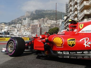 Ferrari driver Kimi Raikkonen of Finland steers his car during the first free practice at the Formula One Grand Prix at the Monaco racetrack in Monaco, Thursday, May 25, 2017. The Formula one race will be held on Sunday. (AP Photo/Frank Augstein)