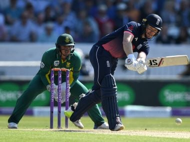 LEEDS, ENGLAND - MAY 24: England captain Eoin Morgan bats during the 1st Royal London ODI match between England and South Africa at Headingley on May 24, 2017 in Leeds, England. (Photo by Gareth Copley/Getty Images)