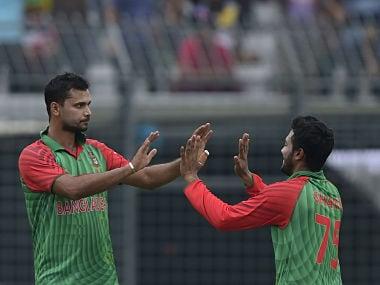File photo of Bangladesh captain Mashrafe Bin Mortaza and Shakib Al Hasan. AFP