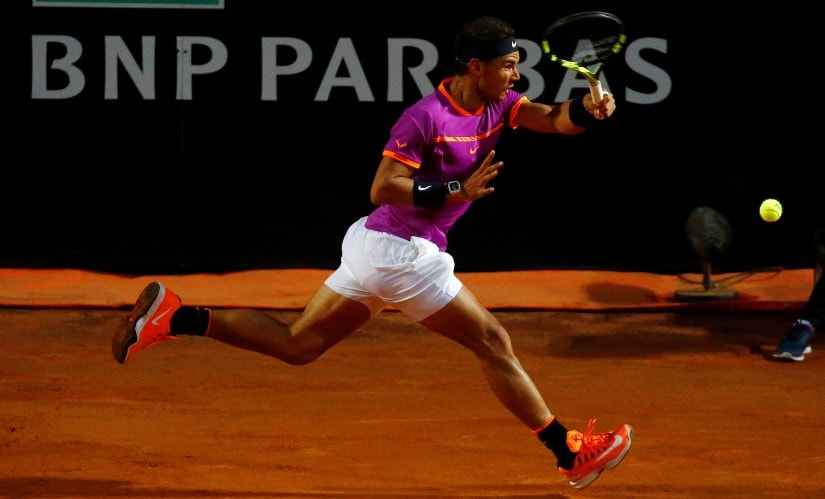 With titles at Monte Carlo, Barcelona and Madrid, Rafael Nadal is the overwhelming favourite for the French Oepn. Reuters