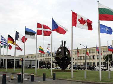 File photo of the NATO headquarters at Brussels. AP