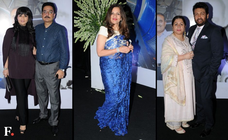 Neeta Lulla with her husband, Dr Shyam Lulla; Sangeeta Jindal; Alka and Shekhar Suman at Praful Patel's biography launch. Photos: Sachin Gokhale/Firstpost
