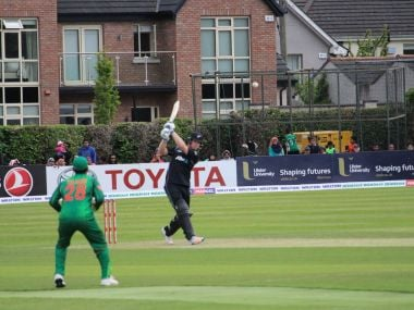 New Zealand won their second match of the Tri-angular series in Ireland. Twitter/ @BlackCaps