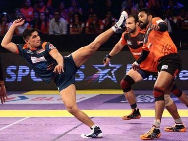 Nitin Tomar was sold for Rs 93 lakh at the PKL auction. Image courtesy: PKL