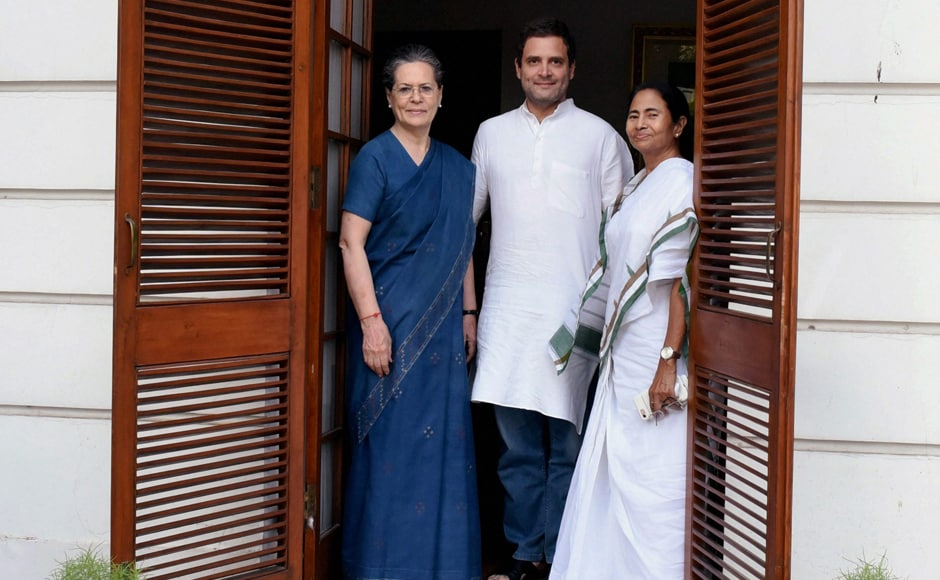 Opposition efforts to put up a consensus candidate for the upcoming presidential poll gathered ground on Tuesday when West Bengal Chief Minister Mamata Banerjee met Congress President Sonia Gandhi at her residence in New Delhi. PTI