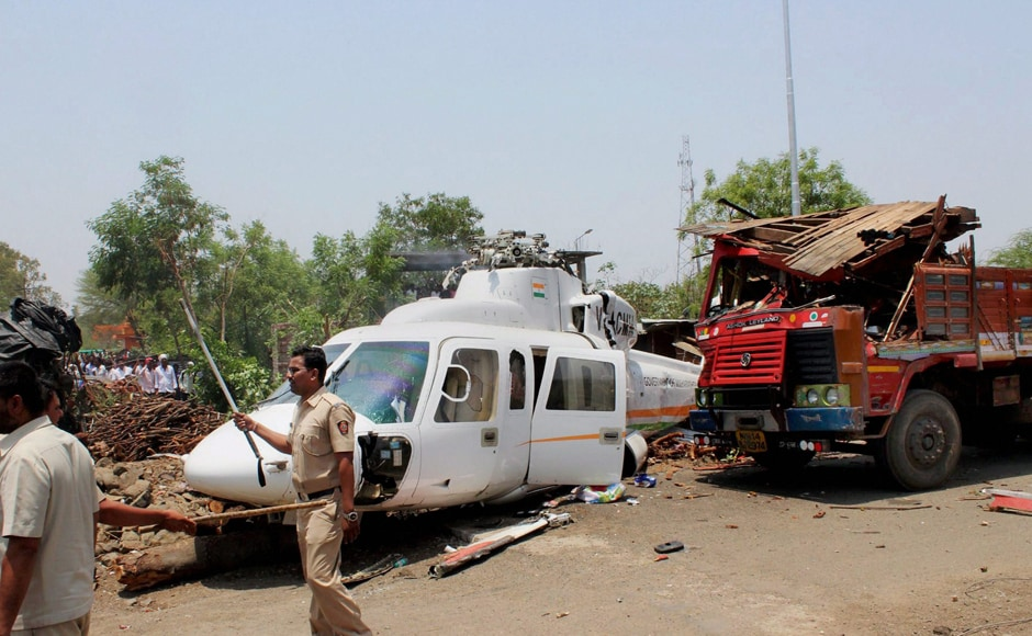 However, Fadnavis and his aides who were travelling with him all escaped unhurt. PTI