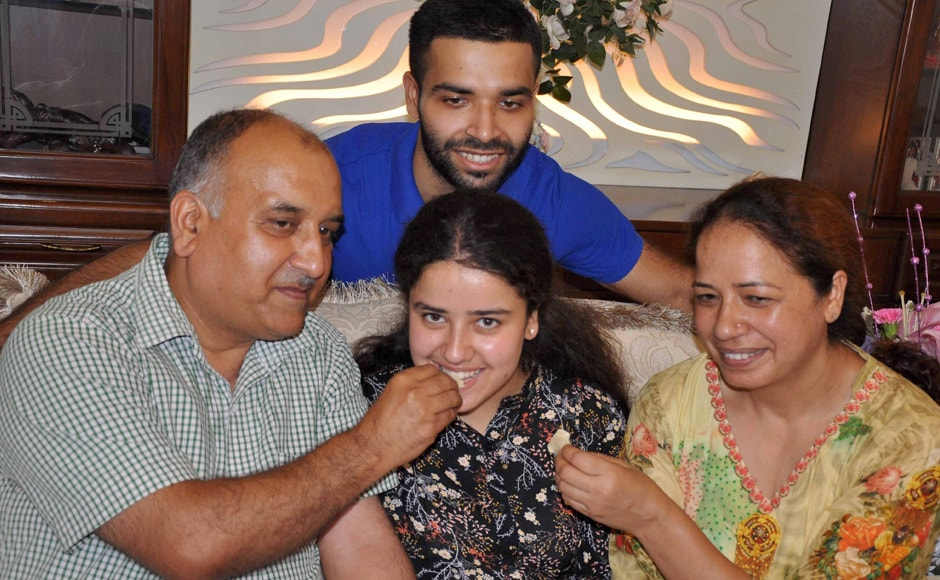 Girls outshone boys in the CBSE Class 12 results. Mannat Loothra from Bhavan Vidyalaya in Chandigarh came third with 99.2 percent. PTI