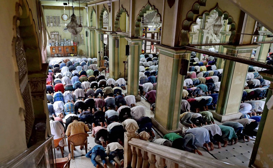 They also offer prayers before breaking their fast. Muslims can be seen praying at the Nakhoda Mosque in Kolkata. PTI