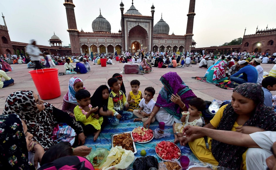 Muslims fast every day for a month from dawn until sunset during Ramadan. They gather in the evening to break their fast. PTI