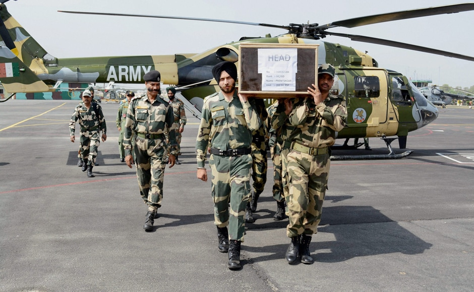 As India expressed its outrage over the beheading of the two Indian soldiers along the Line of Control by Pakistan Army, BSF Head Contable Prem Sagar and Indian Army jawan Paramjeet Singh were laid to rest on Tuesday.