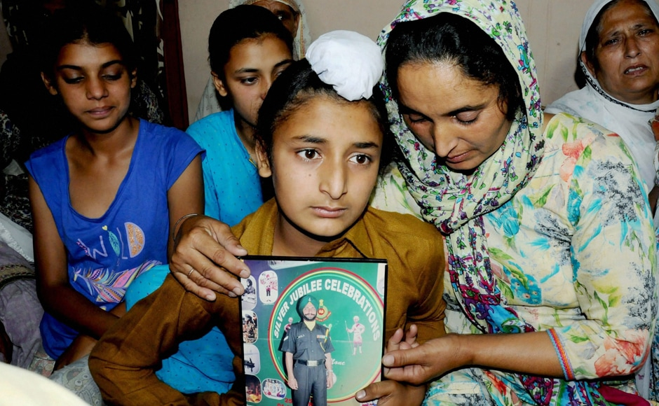 Paramjit is survived by his wife Paramjit Kaur, son Sahildeep Singh and daughters Khushdeep Kaur (L) and Simardeep Kaur. His two young daughters, devastated after receiving the news, said that their father has laid his life for the nation and they are proud of him.