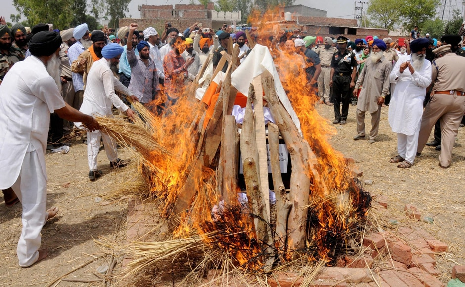Paramjit was finally cremated at his native village, with Army personnel and villagers in attendance. Paramjit was 42-year-old. PTI