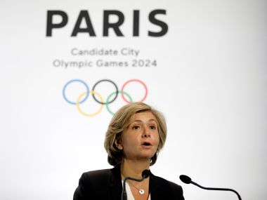 File photo of launch of the international campaign for the Paris bid to host the 2024 Olympic Games. Reuters