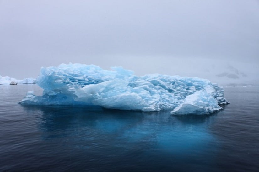 Icebergs can be beautifully blue because the ice is so compressed that all the air has been squeezed out of it.