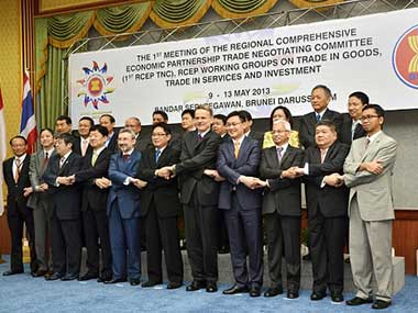 File image of RCEP talks. Getty Images