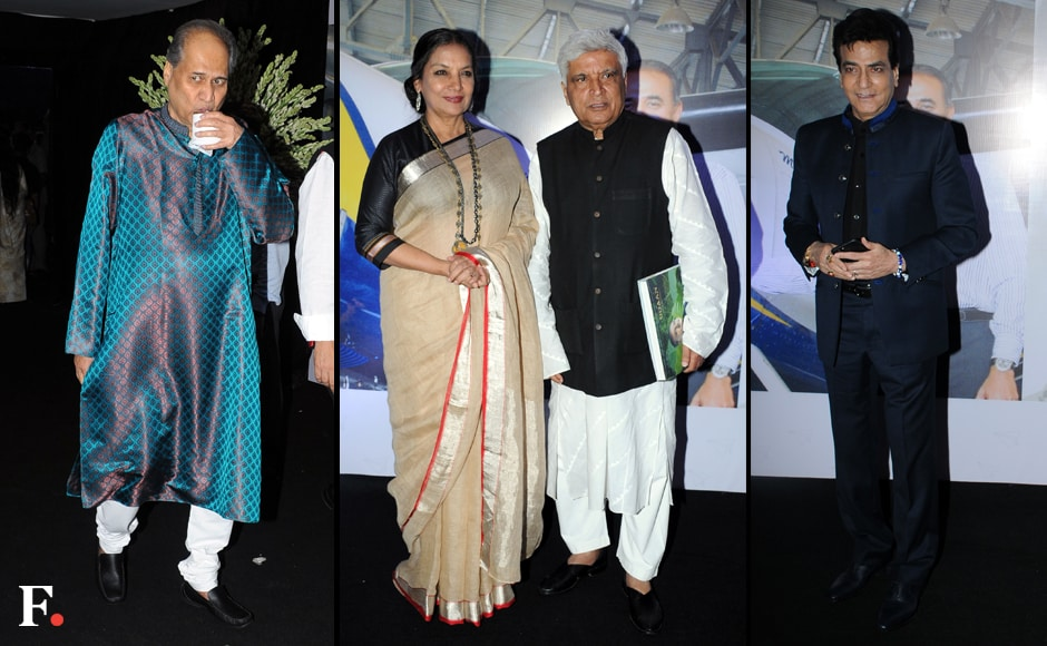 Rahul Bajaj, Shabana Azmi and Javed Akhtar, Jeetendra are all seen at the launch of Praful Patel's pictorial biography.