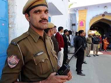 Representational image of Rajasthan police. AFP
