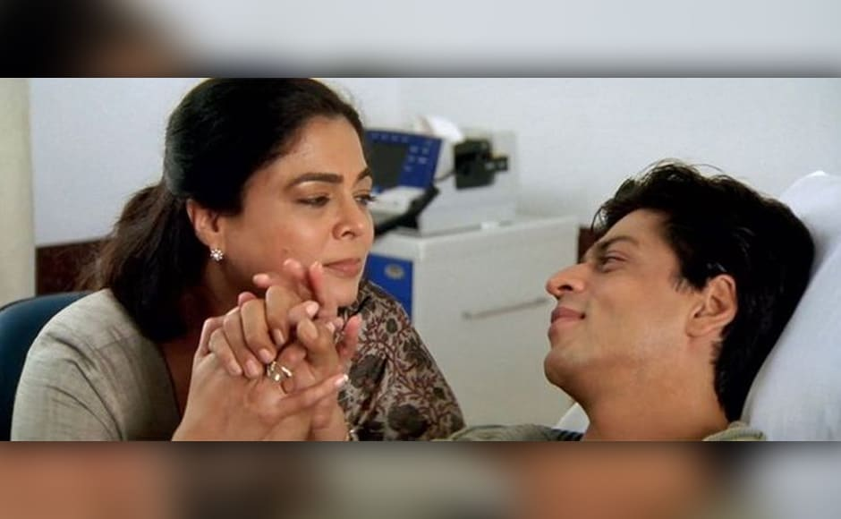 Reema Lagoo played mother to all three Khans — Salman, Aamir and Shah Rukh. Here she is seen in Kal Ho Na Ho.