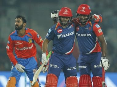 Rishabh Pant and Sanju Samson took Gujarat Lions bowlers to cleaners. SportzPics - IPL
