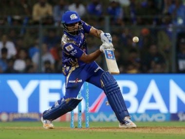 Mumbai Indians' captain Rohit Sharma took the mantle to steadying the innings against RCB. Sportzpics