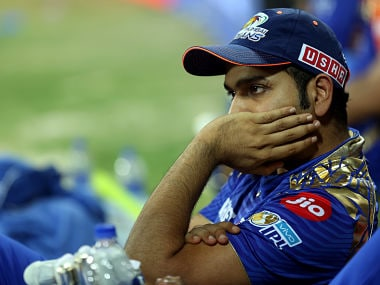 Rohit Sharma dejected during the first qualifier between Mumbai Indians and Rising Pune Supergiant. Sportzpics