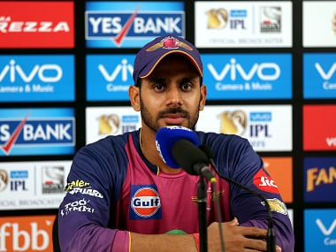 Manoj Tiwary of Rising Pune Supergiant during the press conference after The Qualifier 1 between the Mumbai Indians and the Rising Pune Supergiant. Sportzpics