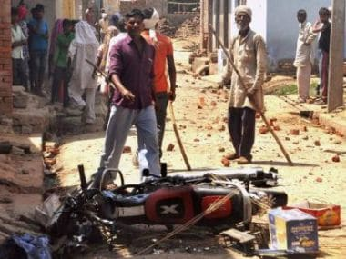 File image of Saharanpur violence. News18