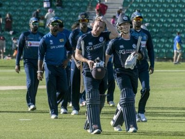Opener Matt Cross and Captain Con de Lange guided Scotland over the line. Image courtesy ICC
