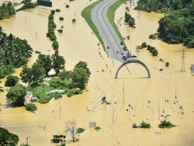 A bird's eye view of the devastation caused by the floods in Sri Lanka. PTI