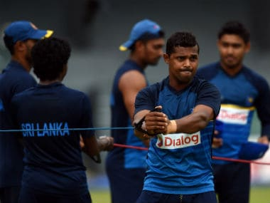 The Sri Lankan squad practiced at Kandy at an altitude of 500m above sea level. AFP